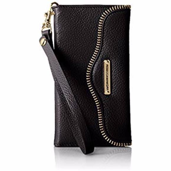 Rebecca Minkoff Handbags - Rebecca Minkoff l Black Leather Cell Phone Wallet